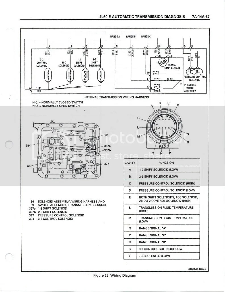 4l80e Internal Wiring Schematic View Of 4L80E Transmission