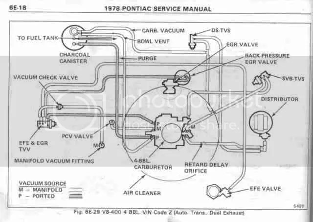 1978 Pontiac 301 Vacuum Diagrams. Pontiac. Auto Parts
