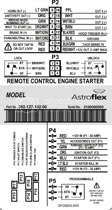 Wiring Diagram For Astrostart Remote Starter : 44 Wiring