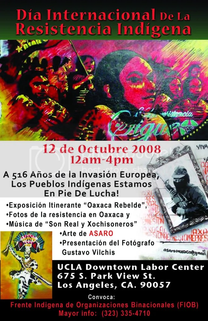 !2 de Octubre, Dia de la Resistencia Indígena