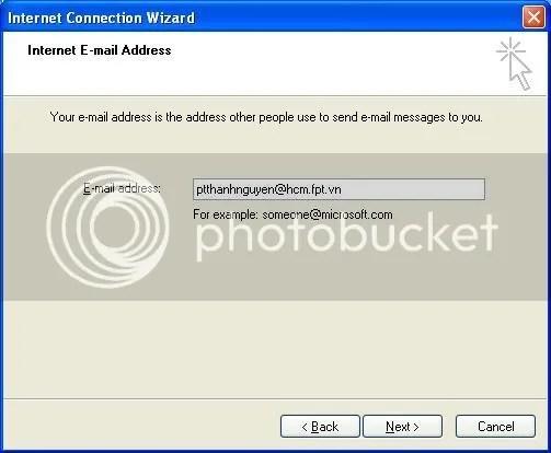 Hình 2: Nh�p địa chỉ email