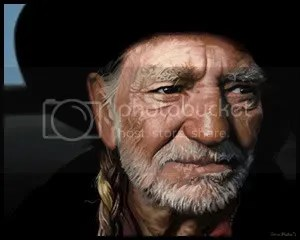 Willie Nelson (painting by anna bleker)