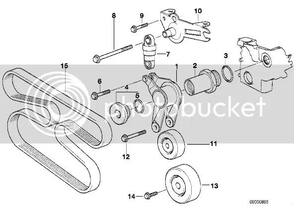 Fan belt configuration for 525 TDS