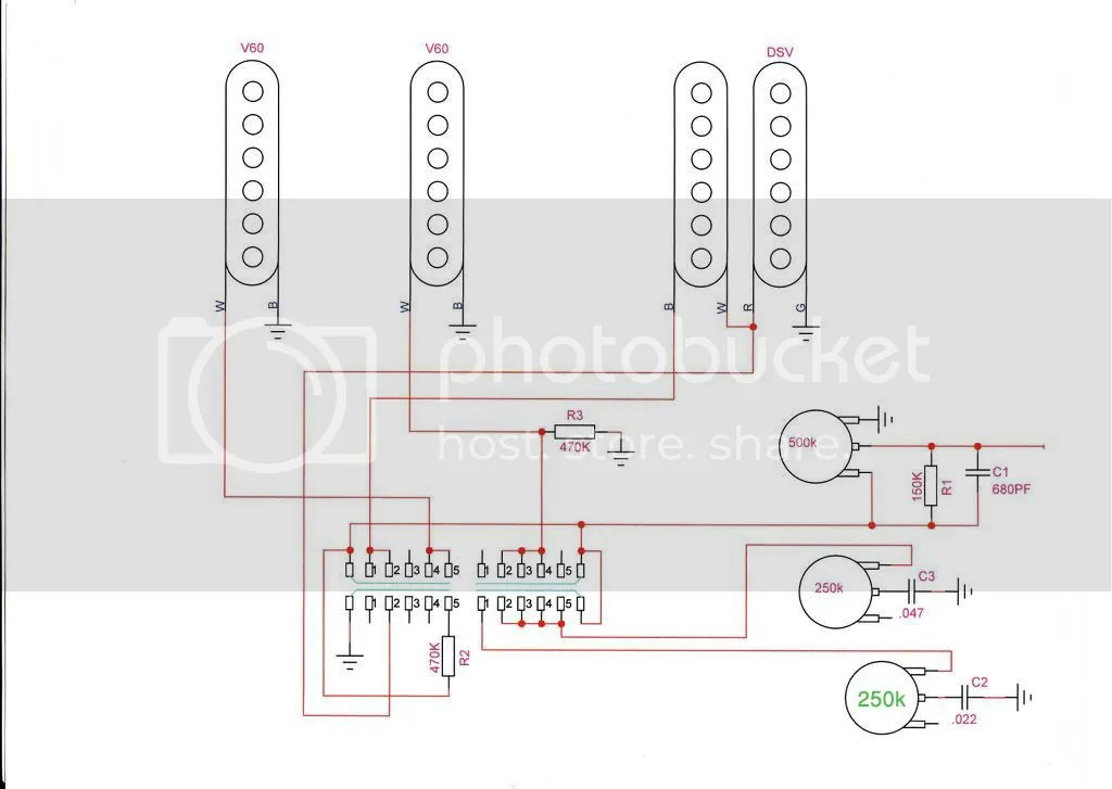 hss strat wiring diagram for 2 humbucker guitar how much difference can you really here between 250k and 500k pots on a strat? | harmony central