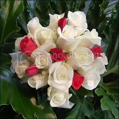 bouquet-whiteRF.jpg Red n White Rose Bouquet image by LadyDracons_Bloode_Rose