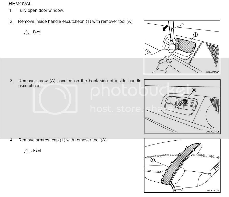 How-to on removing interior aluminum accents on G37 sedan