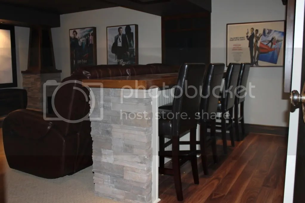 Bar Seating Behind Couch