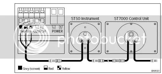 Autohelm ST 7000 + Type 300 Computer + Raymarine ST60
