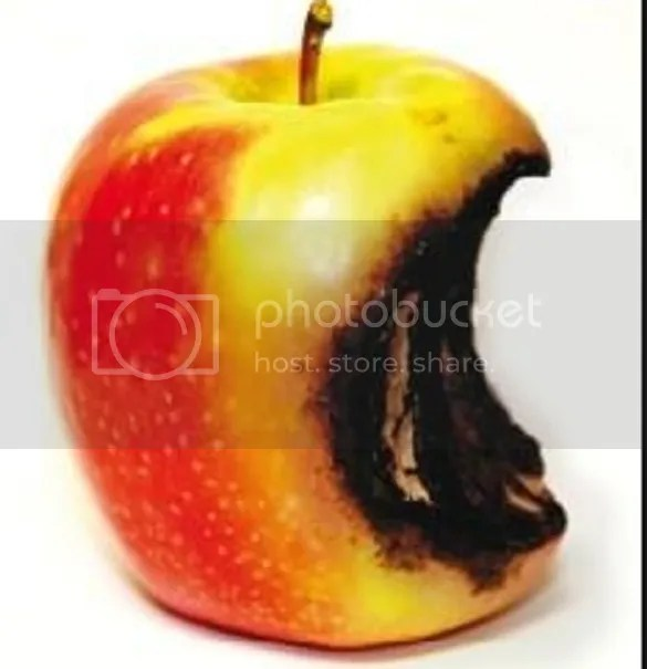 Big Apple With Common Rotten Core