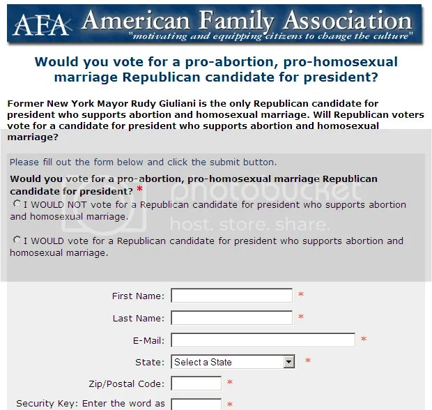 AFA's defamatory push poll.