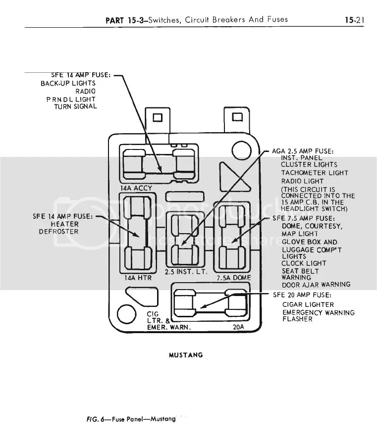 65 Mustang Fuse Box Layout. Wiring. Wiring Diagram Images