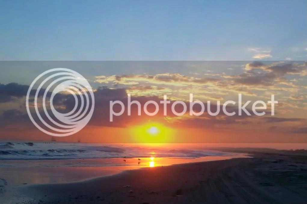 Sunset at Port Fourchon Beach