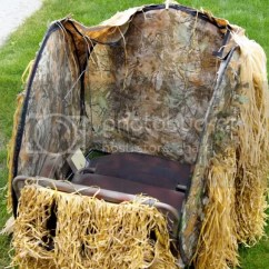 Duck Blind Chair Coleman Lumbar Quatro Hunting Chat Homemade Layout Blinds The Honey Hole Page 2 Also This Year I Ll Experiment With A Turkey Amerstep Spring Steel Circular Along Stadium It Still Needs Some Sort Of Partial Cover
