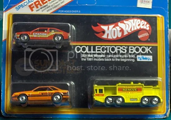 Let's be honest: it's really ''Buy this Collectors' Book, get these three quite uninspiring Hot Wheels cars for free!''
