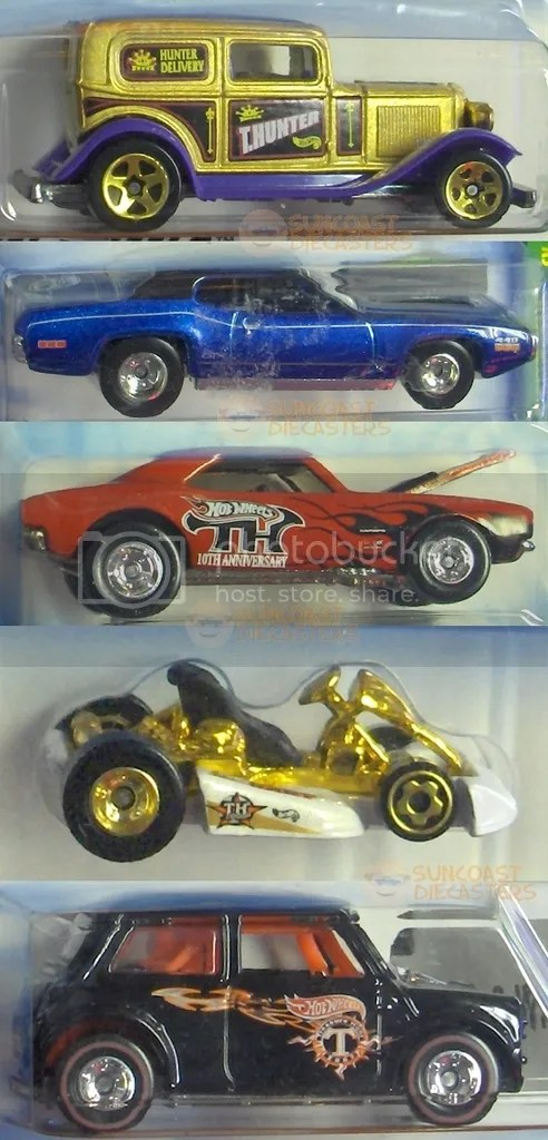 '32 Ford Delivery; '71 Plymouth GTX; 1967 Camaro; Go Kart; Mini Cooper (Treasure Hunts all)