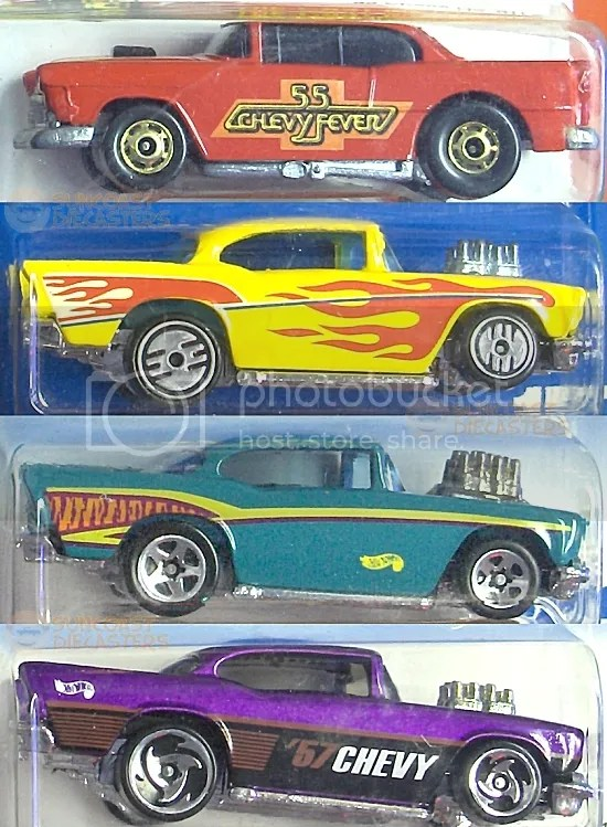 '55 Chevy (Hot Ones); '57 Chevy; '57 Chevy; '57 Chevy (Yep, typed 'em all, because I care)