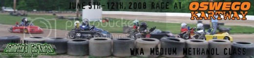 WKA Medium Karts on 6/5-12/2008 at Oswego Kartway