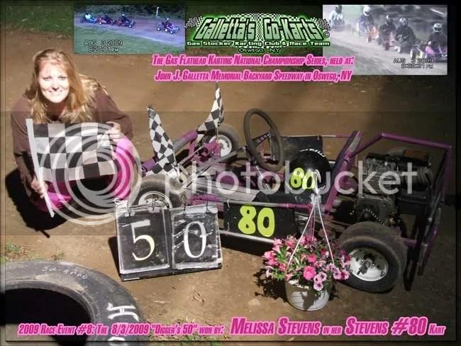 8/3/2009,Melissa Stevens,Winner,Galletta's Karting