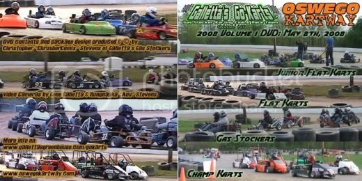 Oswego Kartway 2008 Volume 1 - Click for a printable version of the DVD cover on Photobucket