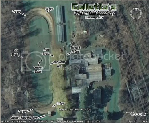 Galletta's Go-Kart Speedway from Space