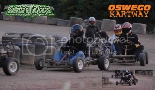 Two of the most talented karters at Oswego Kartway - Matt Stevens and Kyle Reuter (2007).