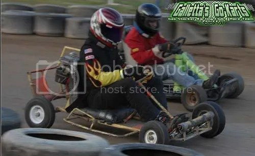 Kyle Reuter in the Galletta's #0 and Lee Bartlett in the former Shane Miller kart.