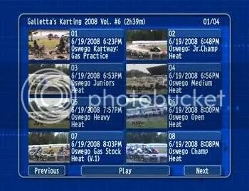 Galletta Kart Club 2008 DVD Vol. 6 DVD Menu