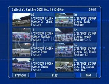 Galletta Kart Club 2008 DVD Vol. 6 DVD Menu