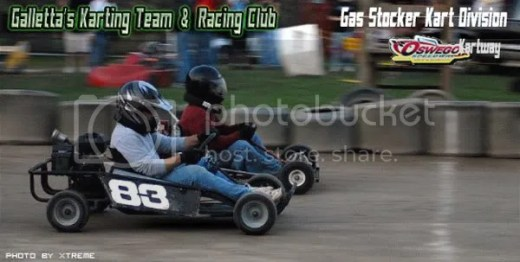 Gallettas @ Oswego Kartway 8/2/2007 - Matt gets Eric by a couple of inches at the checker!