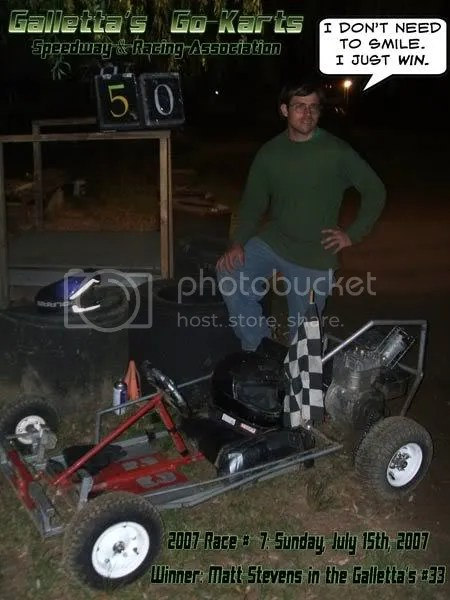 Matt wins his 3rd Galletta's Feature of 2007.