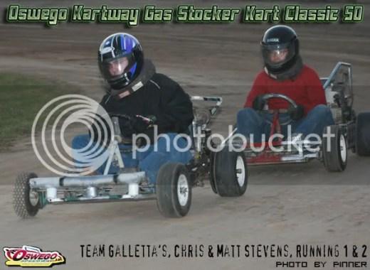 Oswego Kartway - Team Galletta's #8 & 33