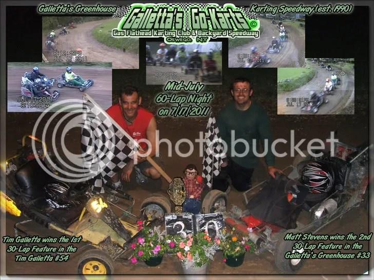 Tim Galletta and Matt Stevens win the 7/17/2011 Twin 30s!
