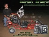 "Matt Stevens won the post-Klassic event in the ""ORIGINAL"" Galletta's Go-Kart! The all-time winningest #3!"