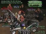 200-LAP OSWEGO KARTING - SATURDAY,OCTOBER 8th, 2011: A grueling 200 laps. But yours truly - webmaster Chris Stevens - broke a 10-year dry-spell and won his first Galletta's Greenhouse Karting Klassic since 2001! It was not easy, as he time trialed 5th, and had to come from the back of the field twice when he blew a tire in 2nd early, then clobbered a tree in 2nd late. But everything fell his way when the leader of almost the entire race, Matt Stevens, decided to refuel, putting Chris in the lead with barely enough fumes to get him the win. Several competitors didn't finish the marathon event, and the closeness of competition made this the HARDEST Klassic to date, with tough competition form first to last, including 2010 defending Klassic Champ Kyle Reuter (who lost a tire in 2nd himself). Now I need some sleep, son, so be back LATAH'! Complete race videos on DVD only $5 each disc and will be ready shortly.