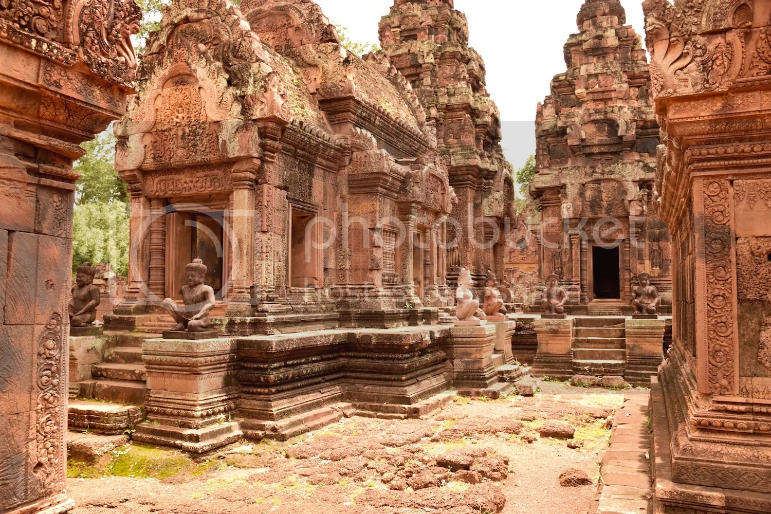 The temple at Banteay Srei was built in 967AD, abandoned some time in the 14th century, then rediscovered in 1914. There's barely a surface without intricate carvings.