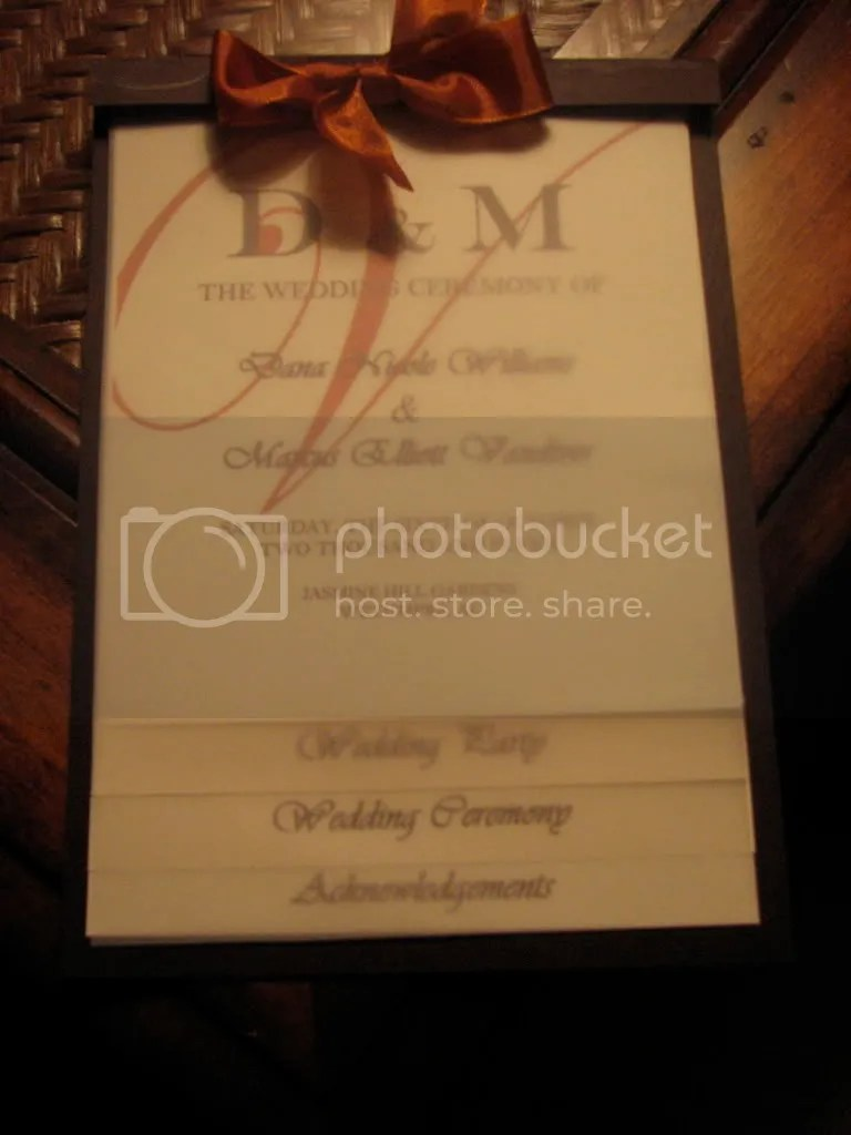 DIY Layered Wedding Programs  VibrantBridecom