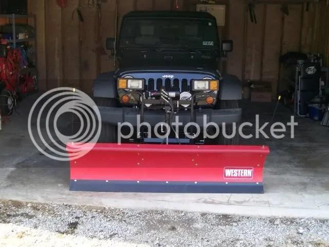 Jeep Wrangler Plow Mount