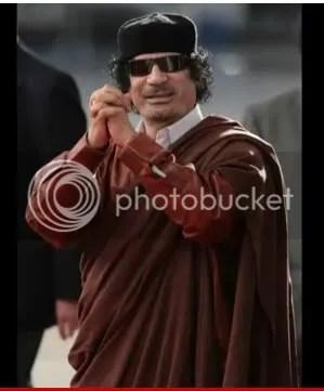 Gadhafi red & Brown white collar