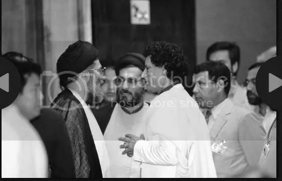 Gadhafi with IMAMs of Iran