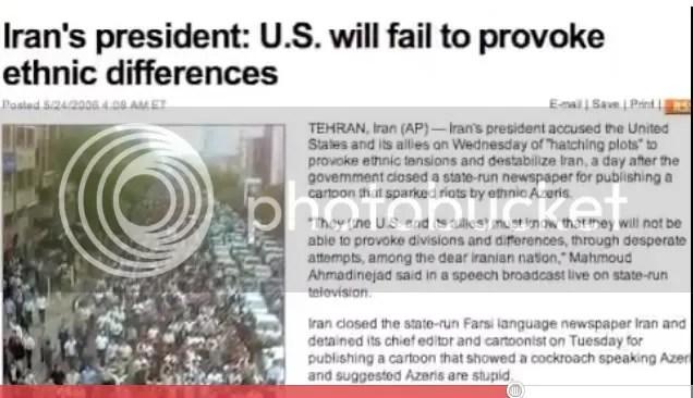 U.S. fails to provoke  tension in Iran