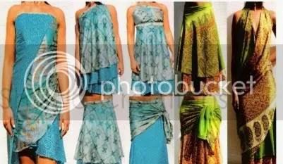 Vestidos cortos en tela hindu