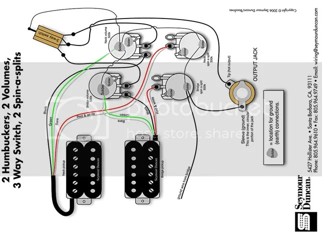 Gibson Humbucker Wiring With 2 Conductor Guitar Output