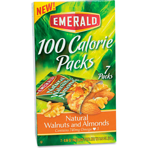 Emerald 100 Calorie Pack Walnuts & Almonds, Natural, 0.56 Oz, 7/Box