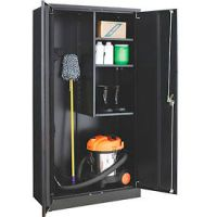 Paramount Janitorial Cabinet Easy Assembly 36x18x72 Black