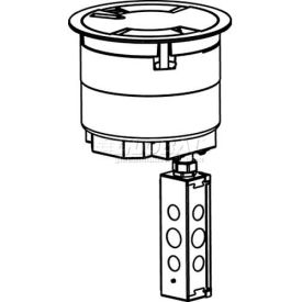 Wiremold 8ATPNK Poke-Thru Pre-Wired Assembly, Core, Flush