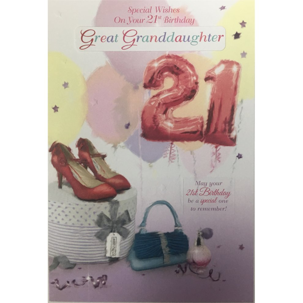 21st Birthday Card Daughter Sister Niece Great
