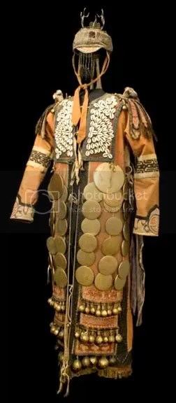 Shaman's mirror costume from North East Manchuria ,The Peoples Republic of China
