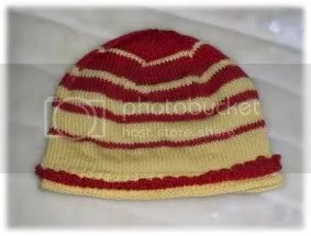Red and yellow hat