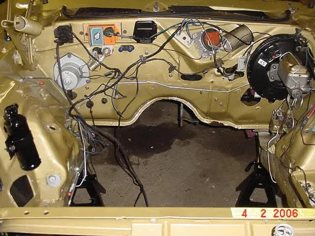 Amc Amx Wiring Harness Need Photo Challenger Brake Line Route Across Firewall