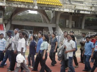 Participants began marching